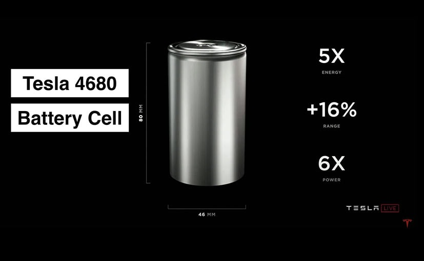 Tesla has touted increased efficiency and density with these batteries