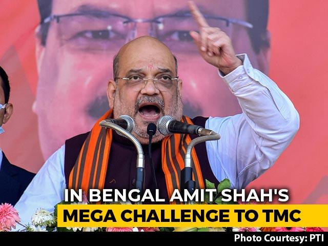 "Video : With 13 New Faces, Amit Shah Warns Trinamool Of Defection ""Tsunami"""
