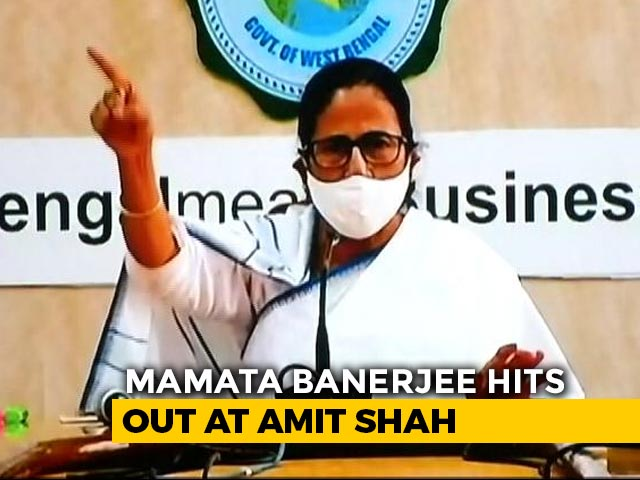 "Video : After Amit Shah Visit, Mamata Banerjee Hits Back With ""Cheatingbaaz"" Slur"