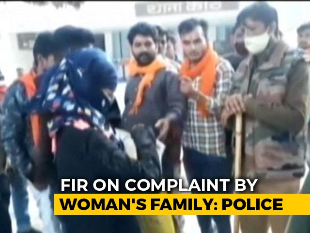 "Video : ""Law For Those Like You"": UP Hindu Woman Heckled, Muslim Husband Arrested"