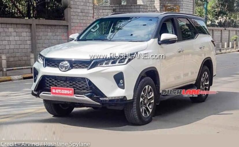 The Toyota Fortuner Legender variant was spotted in India, during a television commercial shoot