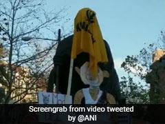 """""""Khalistani Elements"""" Deface US Mahatma Gandhi Statue, Embassy Protests"""