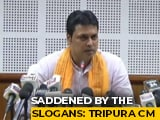 "Video : Biplab Deb Seeks People's ""Mandate"" After BJP Supporters' Slogans"