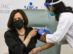 Watch: On Live TV, Kamala Harris Takes Second Dose Of Covid Vaccine