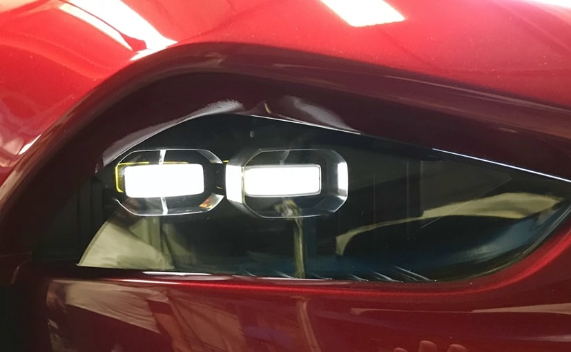 The photo posted by Henrik Fisker shows a headlamp cluster featuring twin LED units and bold lines