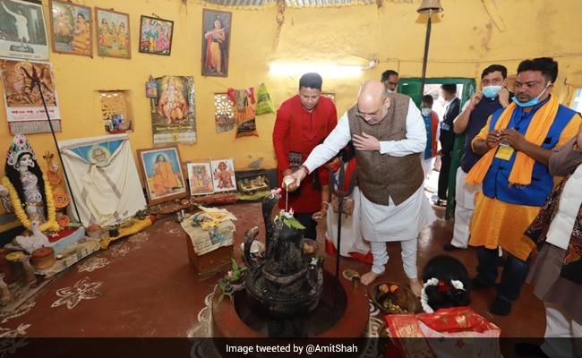 On Day 2 Of Bengal Visit, Amit Shah Visits Visva Bharati, Home Of Baul Singer