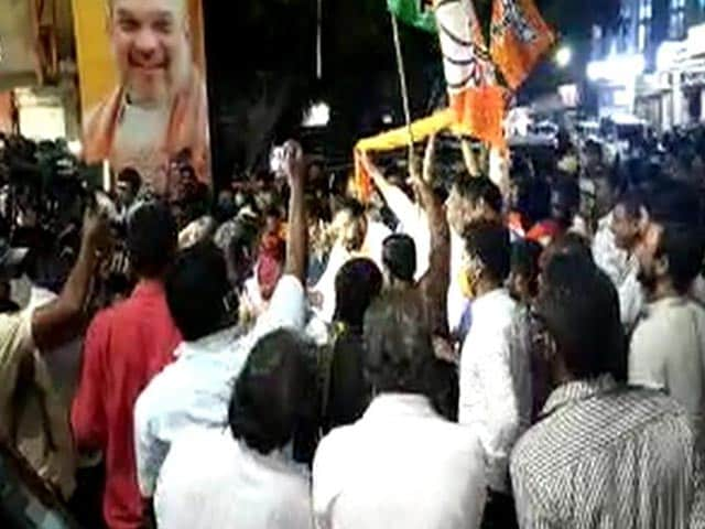 Video : Big Celebrations By BJP In Hyderabad