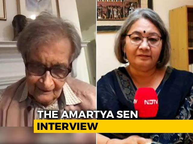Video : Amartya Sen On Land Dispute, Bengal Elections And BJP: Full Interview