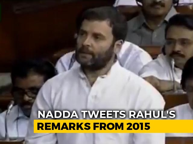 "Video : ""What Magic Is This, Rahul <i>ji</i>..."": JP Nadda's Swipe Over Farm Laws Protest"