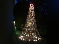 Bengaluru Church Erects Recycled Christmas Tree To Thank Covid Warriors