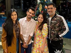 Dhoni Hosts A 'Homely' Dinner For Newlywed Yuzvendra Chahal And Wife Dhanashree (See Pics)