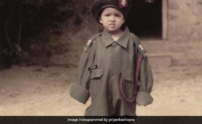 A Million-Dollar Throwback Pic Of Priyanka Chopra 'Dressed In Her Dad's Army Uniform'