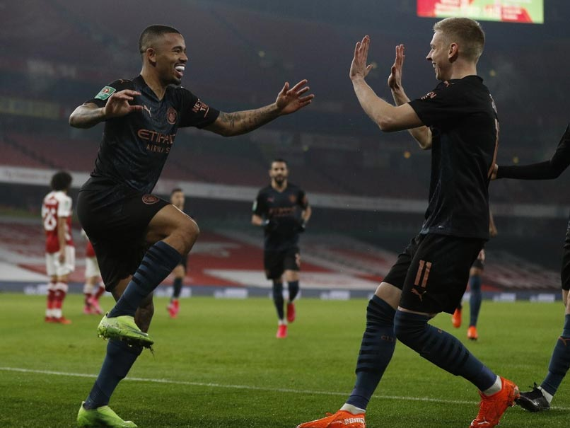 Carabao Cup: Manchester City Rout Arsenal To Enter Semi-Finals