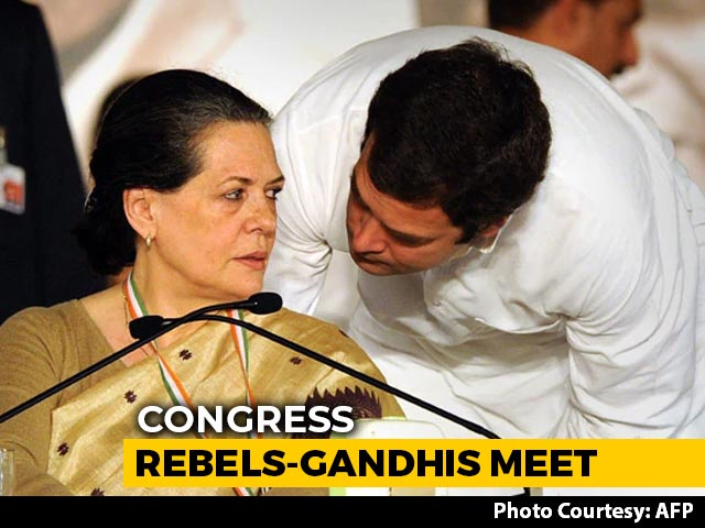 Video : Sonia Gandhi's Outdoor Meet With 'Rebels' As Congress Attempts Thaw