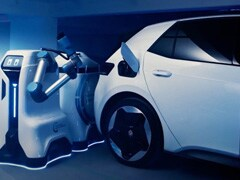 Volkswagen Showcases Prototype For Self Driving Charging Robot For EVs