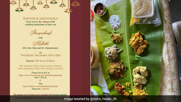 Tamil Family Sends Over Food For Online Wedding Attendees, Tweet Goes Viral