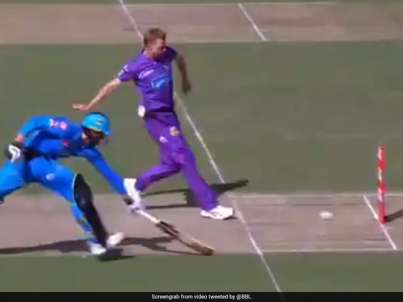 """""""Moustache Has Super Powers"""": Hobart Hurricanes Bowler Runs Out Batsman With Fancy Footwork In BBL 2020. Watch"""
