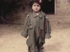 """A Million-Dollar Throwback Pic Of Priyanka Chopra """"Dressed In Her Dad's Army Uniform"""""""