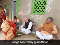 Amit Shah Eats Lunch At Farmer's House In Bengal
