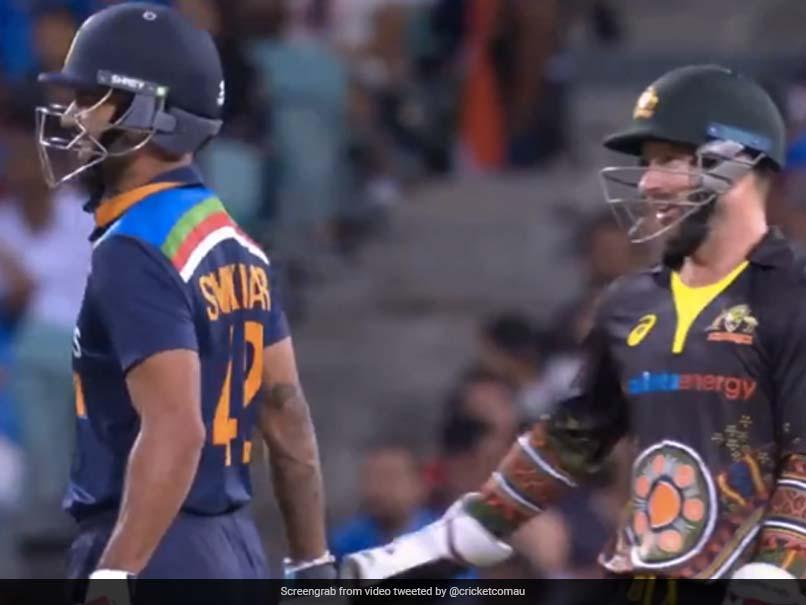 "Australia vs India 2nd T20I: ""Not Quick Enough Like Dhoni,"" Matthew Wade Tells Shikhar Dhawan After Stumping Chance. Watch"