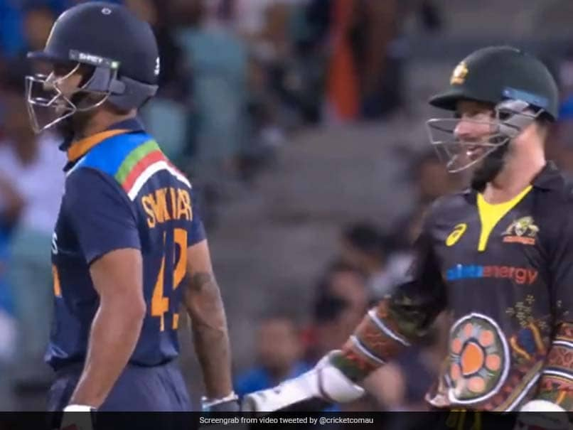 "Australia vs India 2nd T20I: ""Not Quick Enough Like Dhoni,"" Matthew Wade Tells Shikhar Dhawan After Stumping Chance. Watch"