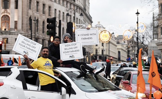 Thousands Protest In London To Support Indian Farmers, Several Arrested
