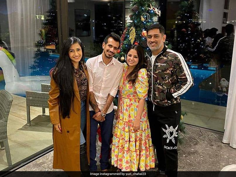 MS Dhoni Hosts Newly-Wed Yuzvendra Chahal, Dhanashree Verma For Dinner In Dubai. See Pics