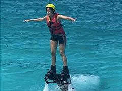 Rakul Preet Singh Describes Flyboarding Experience In Maldives With ROFL Caption