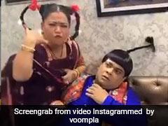 भारती सिंह ने दबाया कीकू शारदा का गला, Video में बोलीं- तू तो साडी केयर नी करदा...