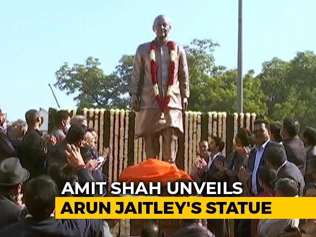 Video : Amit Shah Unveiled The Statue On Arun Jaitley's Birth Anniversary