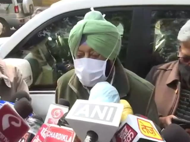 """Video : """"Nation's Security"""": Amarinder Singh Urges Amit Shah To Solve Farmer Row"""