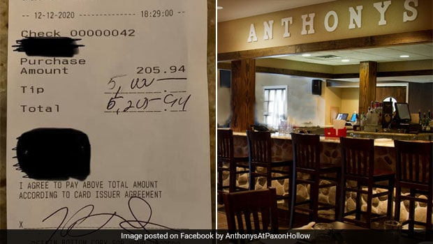 Viral: Customer Leaves USD 5,000 Tip With Order, Social Media Is In Awe