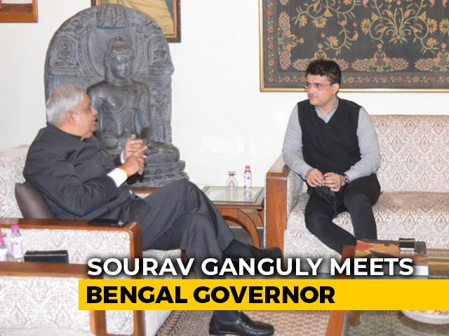 Video : Sourav Ganguly Meets Bengal Governor, Invites Him To Eden Gardens
