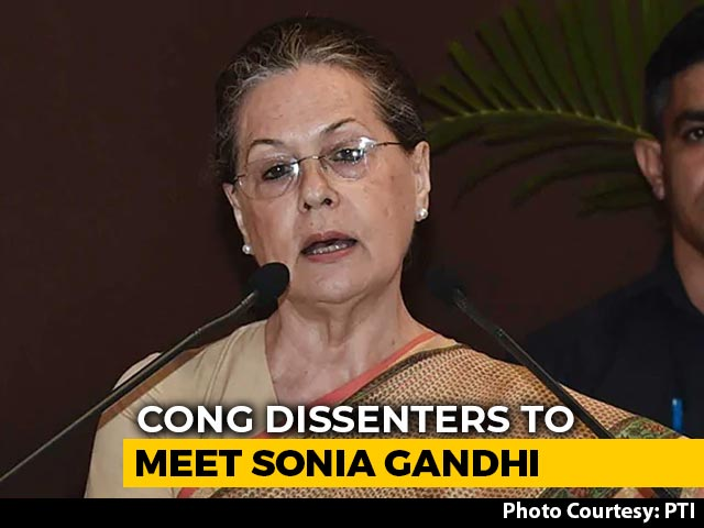 Video : Congress Dissenters To Meet Sonia Gandhi On Saturday, Say Sources