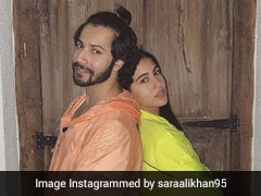 Sara Ali Khan, Varun Dhawan Brighten Up Our Feeds In Cool Neon Jackets