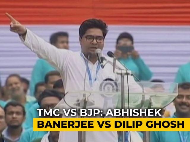Video : Ahead Of Bengal Polls, Trinamool's Abhishek Banerjee Take On BJP's Dilip Ghosh