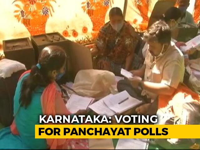Video : First Phase Of Karnataka Rural Body Elections Today, Voting On