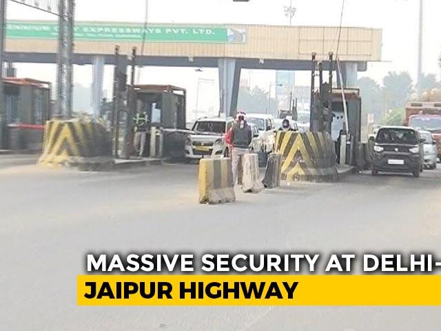 Video : Security Tightened At Delhi-Jaipur Highway
