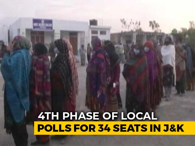 Video : Fourth Phase Of Local Polls For 34 Seats In Jammu And Kashmir