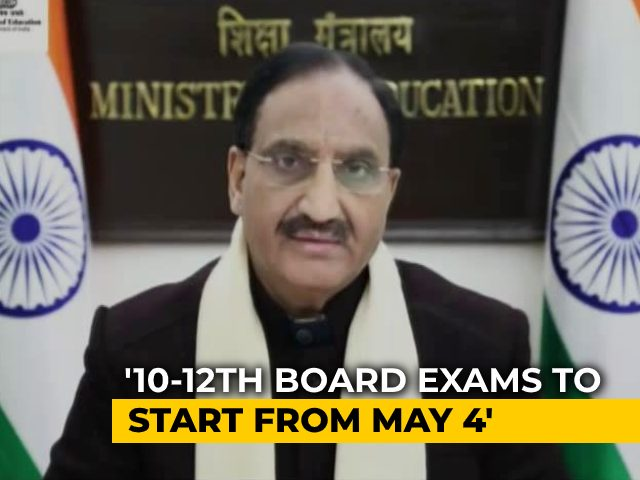 Video : Delayed By 3 Months, CBSE Board Exams Start May 4, Results On July 15