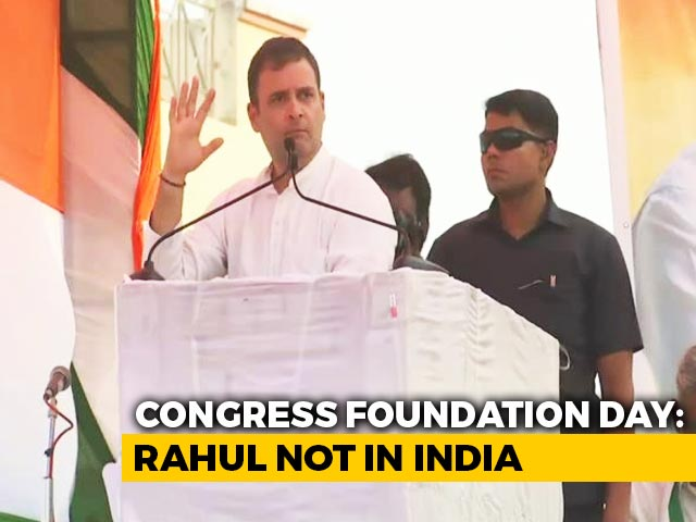 Video : Rahul Gandhi Abroad, Misses Congress Foundation Day, BJP Taunts Again