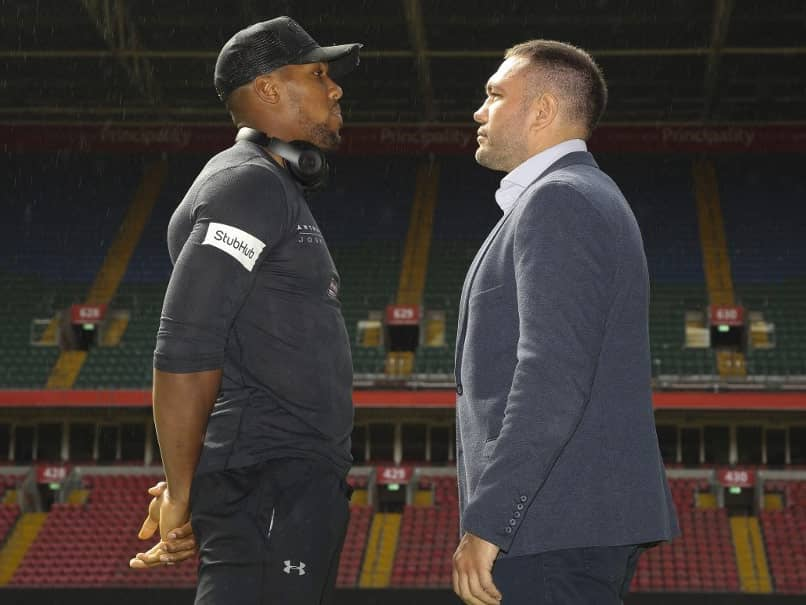Anthony Joshua, Kubrat Pulev Clash At Fiery Weigh-In For Wembley Showdown