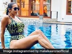 Malaika Arora Makes Pool Time Glamorous In An Animal Print Swimsuit