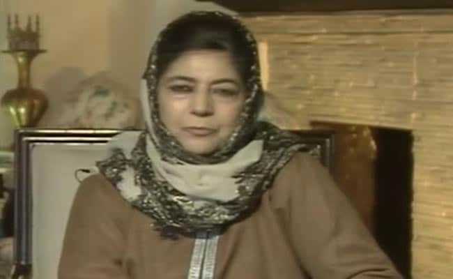 Photo of Mehbooba Mufti's Party Meeting Underway To Discuss Centre's Invite For Talks