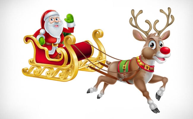 Merry Christmas: Legend Of Santa Claus And Rudolph The Red-Nosed Reindeer