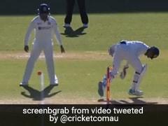 """Bizarre Dismissal"": Wriddhiman Saha Does A MS Dhoni To Run Out Matthew Wade. Watch"