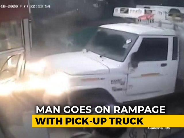Video : Patient's Enraged Relative Rams Truck Into Gurgaon Hospital