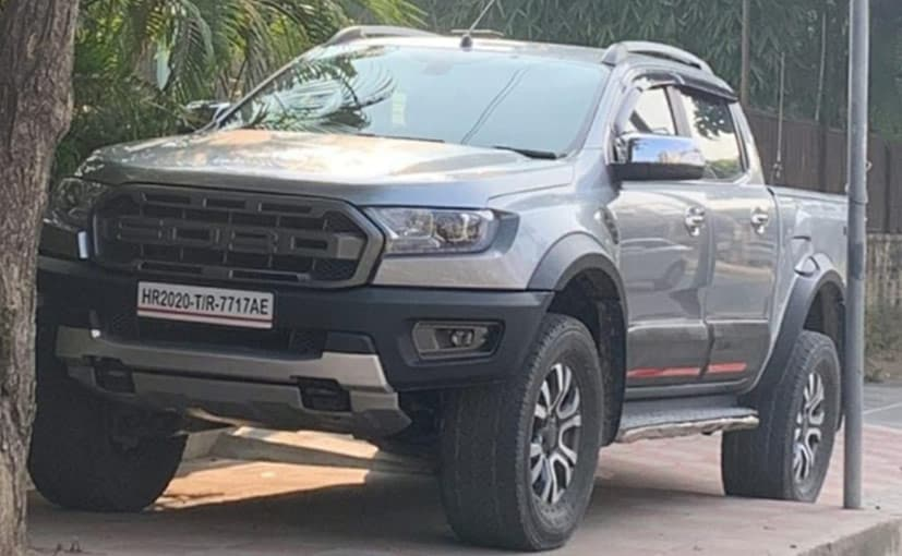The Ford Ranger pick-up has been modified to make it look like the performance-spec Raptor