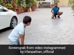 यूसुफ पठान के बेटे ने मारा शॉट, कार पर लगी गेंद, इरफान बोले - 'गाड़ी खतरे में...' - देखें Video