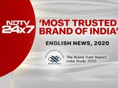 "NDTV 24x7 Again Voted ""India's Most Trusted Brand - 2020"" In English News"